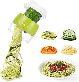 Coupe Légume Trancheuse Spirale 4 en 1 Spiraliseur de Légumes Légume Spaghetti Mandoline Cuisine pour Courgettes Carottes ...