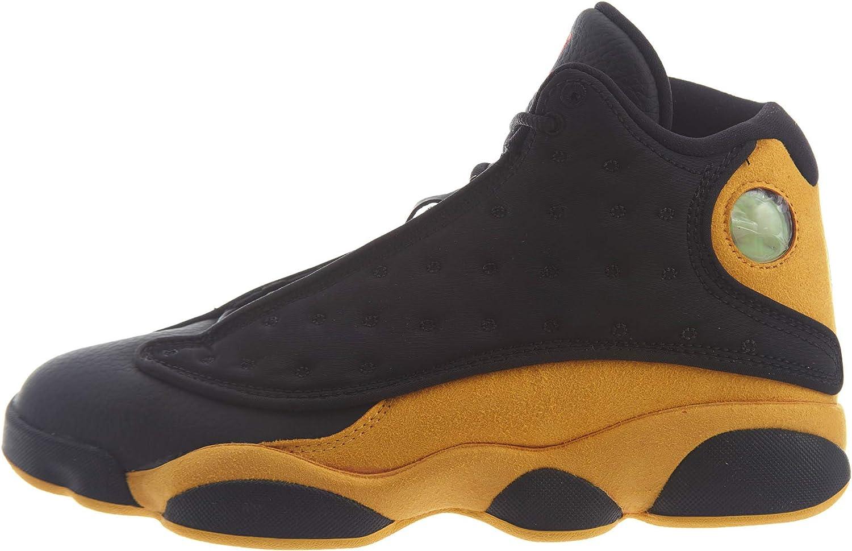 NIKE Air Jordan 13 Retro Men's Basketball shoes Black University Red 414571 035 (10.5)