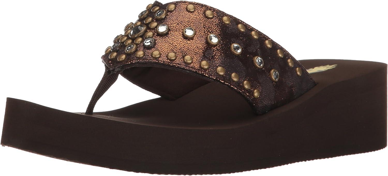 Volatile Womens Zinnia Wedge Sandal