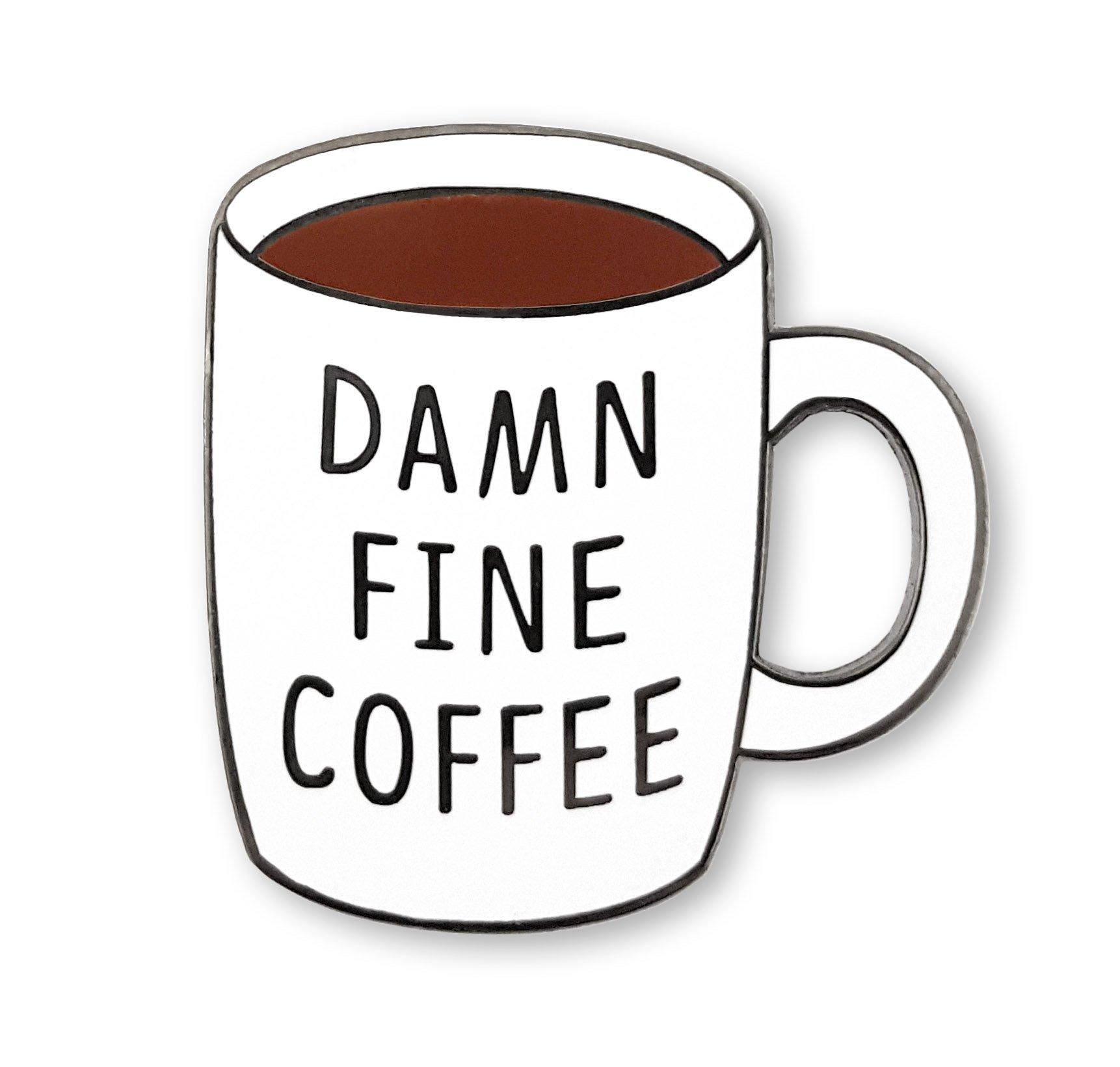 ピサニティ「ダムファインコーヒー」珐ラペルピン