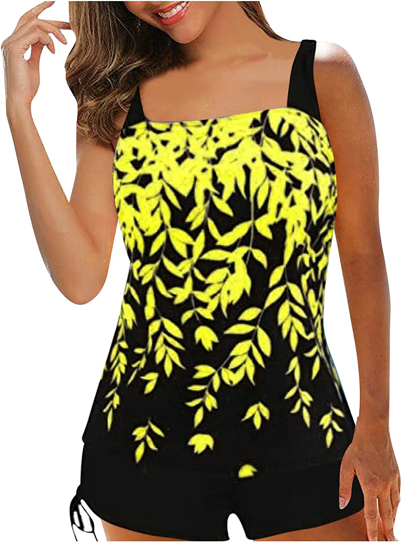 Women's Swimsuits Bathing Suit Modest Tankini Top Boyshort Swimwear