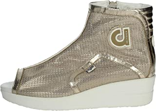 Ruco Line Womens AGILE1304B Beige Leather Sneakers
