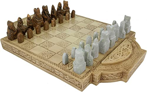grand Viking Chess Set Isle of Lewis Chess Pieces and Board