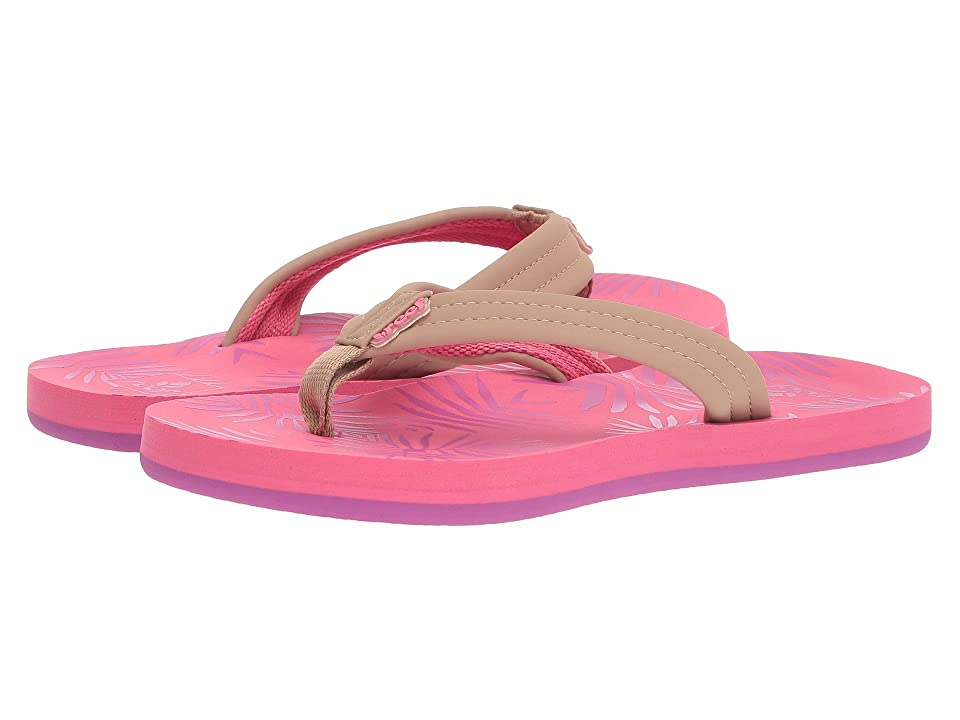 Reef Kids Little Reef Footprints (Infant/Toddler/Little Kid/Big Kid) (Pink Palms) Girls Shoes