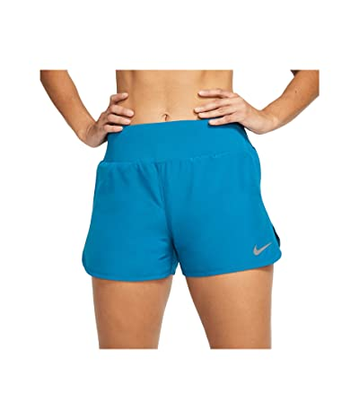 Nike Crew Shorts (Laser Blue/Reflective Silver) Women