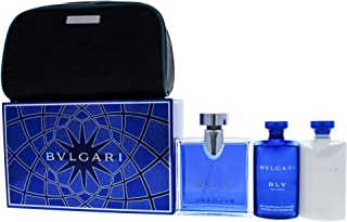 Bvlgari Blv Pour Homme 4pc Gift Set EDT 100ml, Shower Gel 75ml, Aftershave Balm 75ml & Bvlgari Pouch