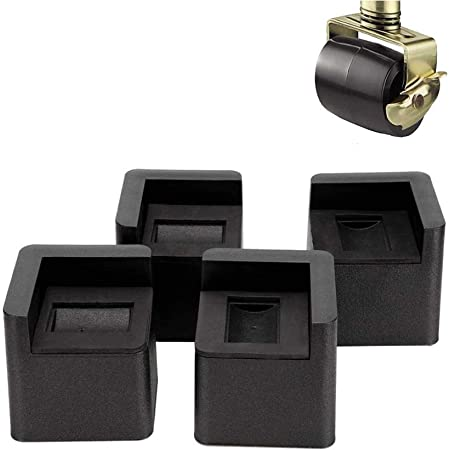 Kyrieval 3 Inch Bed Risers Heavy Duty U Shape Furniture Risers for Casters Wheels of Furniture, Sofa, Table and Couch 4 pcs