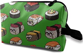 Sushi Sloth Travel Makeup Cute Cosmetic Case Organizer Portable Storage Bag for Women