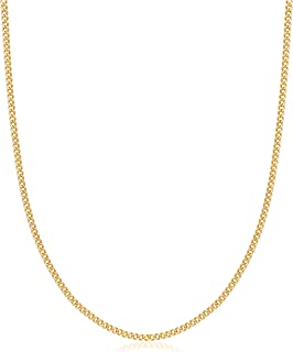 Womens Gold Chain Necklace   Barzel 18K Gold Plated Curb / Cuban Link Gold Chain Necklace 2MM, 3MM, 4MM, 5MM For Women or ...