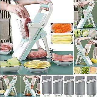 Sponsored Ad - Multi Blade Replaceable Safe Mandoline Slicer, Pro Chopper for Meat and Vegetable, Kitchen Vegetable Dicer ...
