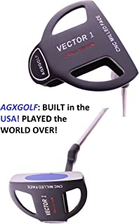 AGXGOLF Men's Vector Series 2-Ball Putter: w/CNC Milled Face & Polymer Insert: Right Hand, (36 Inch) Tall Length; Built in The USA!!