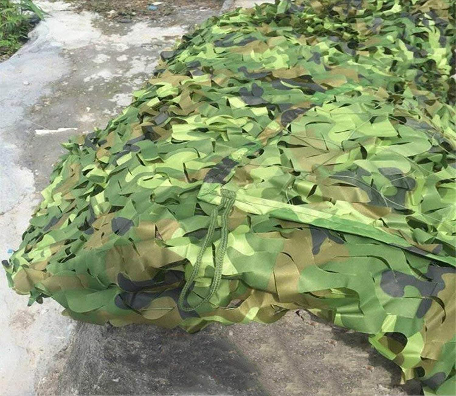 Military Sunshade Net Household Waterproof Insulation Camouflage Net Outdoor Jungle Camouflage Net Botanical Garden Flower Predection Net Decoration Net Green 9 Size (Size   3x3m)