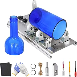Sponsored Ad – Glass Bottle Cutter Kit, Bottle Cutter DIY Tool Kits for Various Round Oval Beer Wine Bottles and Mason Jar...