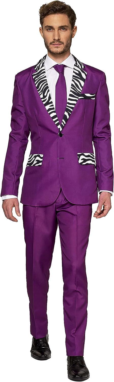 Suitmeister Men Suit Juego de Pantalones de Traje de Negocios para Hombre