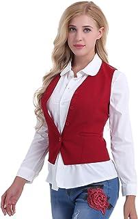 92a47c5031c iixpin Gilet Femme Boléro de Maiage Cardigan de Cocktail sans Manches  Bouton Mince Épaule Costume pour