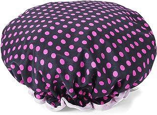 Rose Dots Shower Cap, Double-layer Waterproof Bath Hat for Women