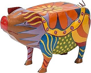 DZCGTP Table d'appoint de Cochon d'art Populaire, Table d'appoint de Patio Meubles de Patio d'art Populaire coloré, Statue...