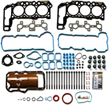 SCITOO Replacement for Full Gasket Head Set with Bolts Mitsubishi Jeep Dodge 2005-2012 VIN K 3.7L V6 SOHC Engine Full Gaskets Sets Kit