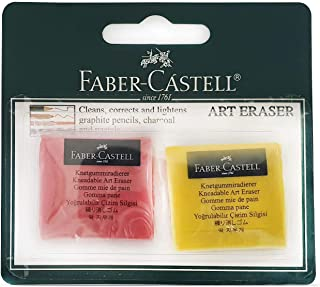 Faber-Castell Kneadable Art Eraser 2pc -Assorted Colours