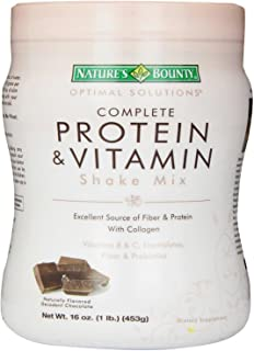 Protein Powder with Vitamin C by Nature's Bounty Optimal Solutions, Contains Vitamin C for Immune Health, Decadent Chocolate Flavor, 1 lb