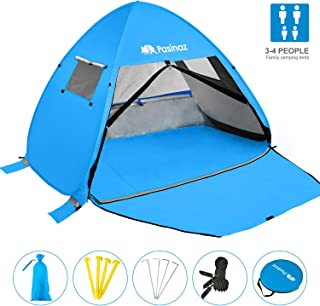 Pasinaz Pop Up Tent 3-4 People Family Beach Tent Camping Shelter Anti UV Sun Shade Outdoor Cabana