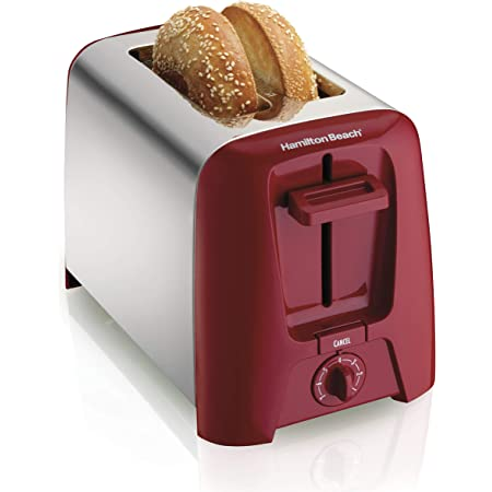 Hamilton Beach 2 Slice Extra Wide Slot Toaster with Shade Selector, Toast Boost, Auto Shutoff, Red (22623)