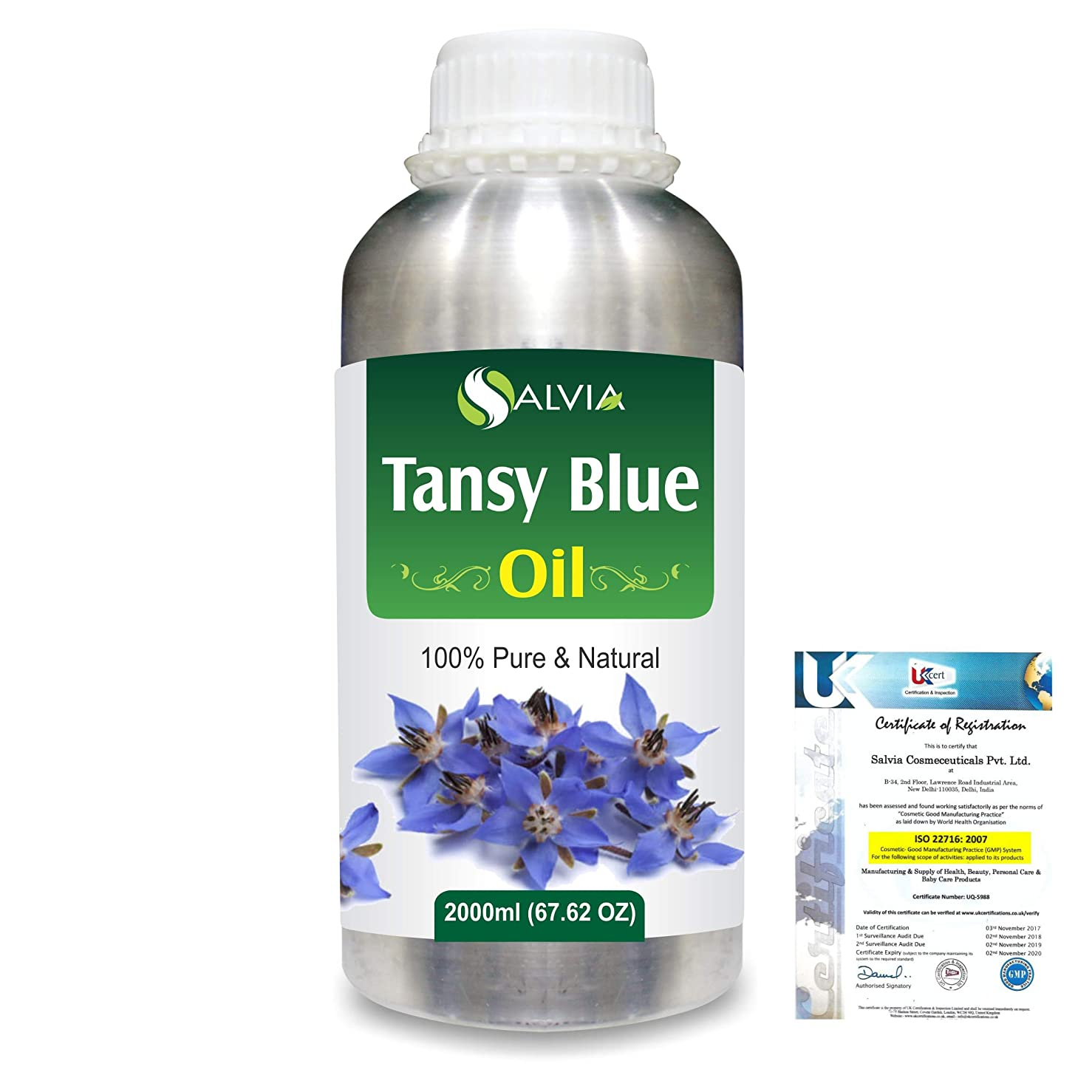 スペア副産物実用的Tansy (Tanacetum vulgare) 100% Natural Pure Essential Oil 2000ml/67 fl.oz.