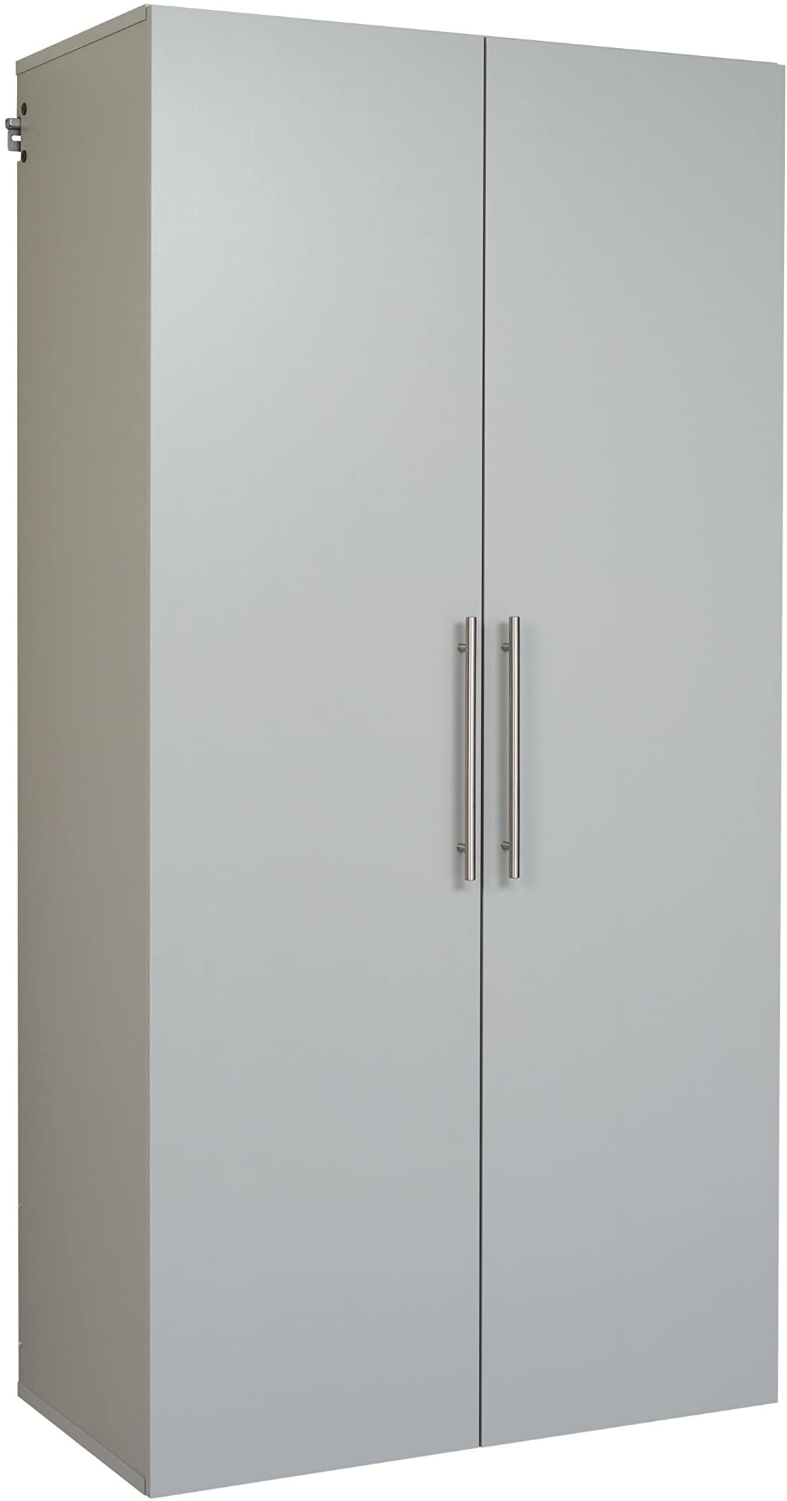 "Prepac Hang-Ups Storage Cabinet, 36""/Large, Light Gray"