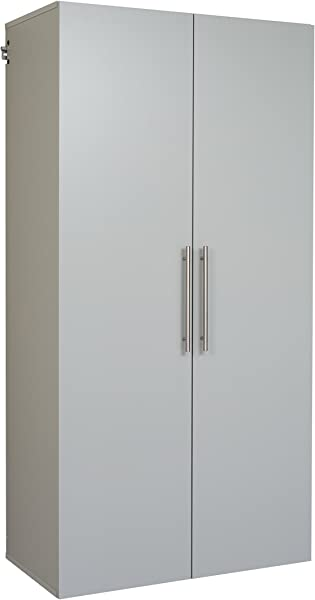 Prepac GSCW 0708 2K Hang Ups Storage Cabinet 36 Large Light Gray