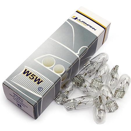 Jurmann Trade Gmbh 10x Stück Clear 12v 5w W5w T10 Glassockel Halogen Lampen Autolampen Glühlampe Neu Auto