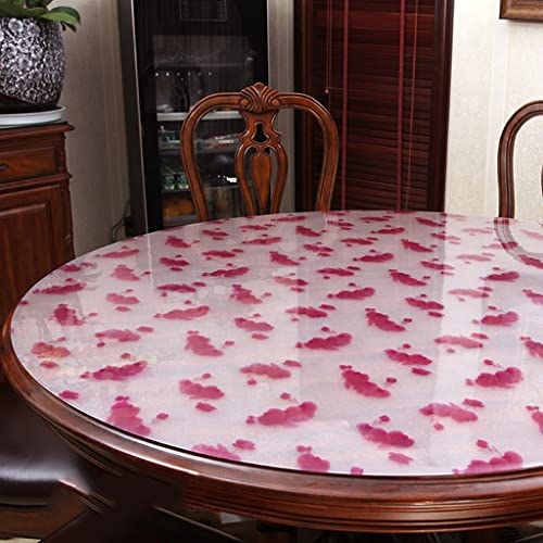 Küchenwäsche Tischdecke, wasserdichte Kristallplatte Couchtisch Tuch PVC Tischdecke 1.5MM ( Farbe   A , Größe   Round-130cm )
