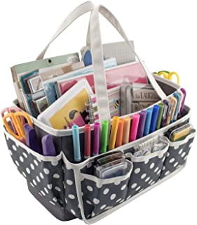 Everything Mary Large Open Craft Caddy - Storage Craft Bag Organizer for Crafts, Sewing, Paper, Art, Desk, Canvas, Supplies Storage Organization with Handles for Travel by Everything Mary