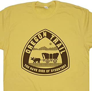 07071c33c Oregon Trail T Shirt You Have Died of Dysentery Tee Retro 80s Video Game  Old School
