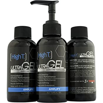 High T Ultra Gel - All Natural Testosterone Booster, Muscle Recovery Increase Energy and Endurance (Has a Maple Smell to it) - (4oz Bottle)