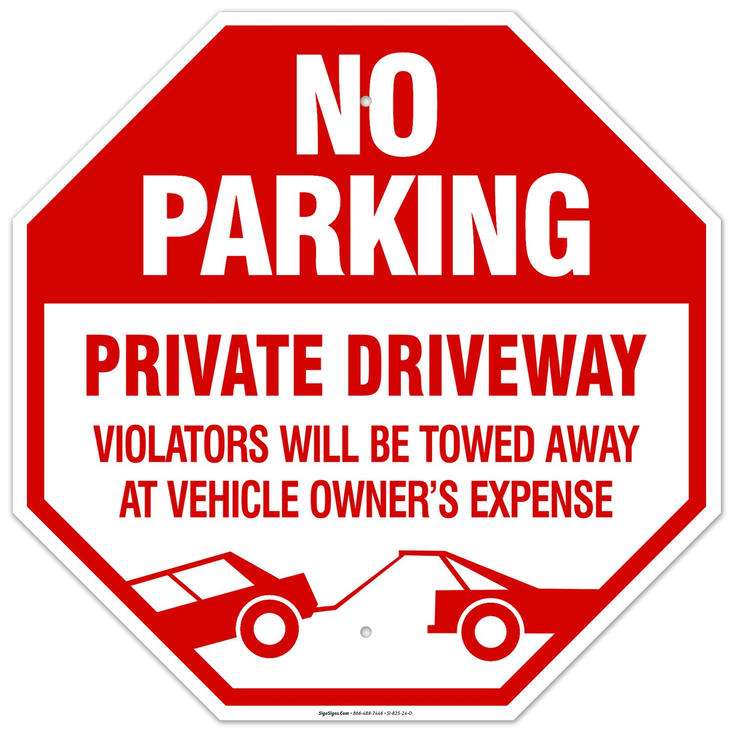 Private Driveway Sign 安全 No Parking Inches Free 限定モデル 24x24 Rust