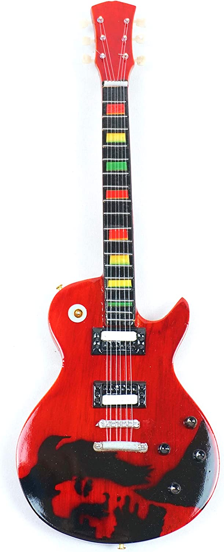 Guitarra en miniatura decorativa Gibson de primera calidad, 24 cm, color rojo #172