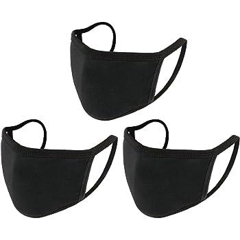 Face Masks 3 Pack GEMAN Anti Dust Mouth Cotton Masks Washable Fashion Reusable Black Masks for Women/Men/Teens