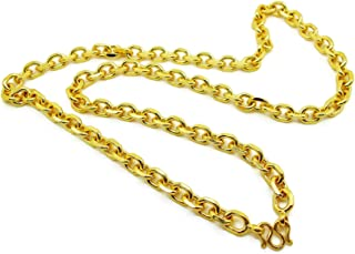 Men's Classic Chain 22k 23k 24k Thai Baht Gold GP Necklace 29 Inch 10 mm Jewelry