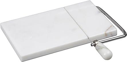 قطاعة الجبن من الرخام الطبيعي 84008 من كريتيف هوم، 5 بوصة عرض × 8 بوصة طول، اوف وايت (الأنماط قد تكون أكثر)