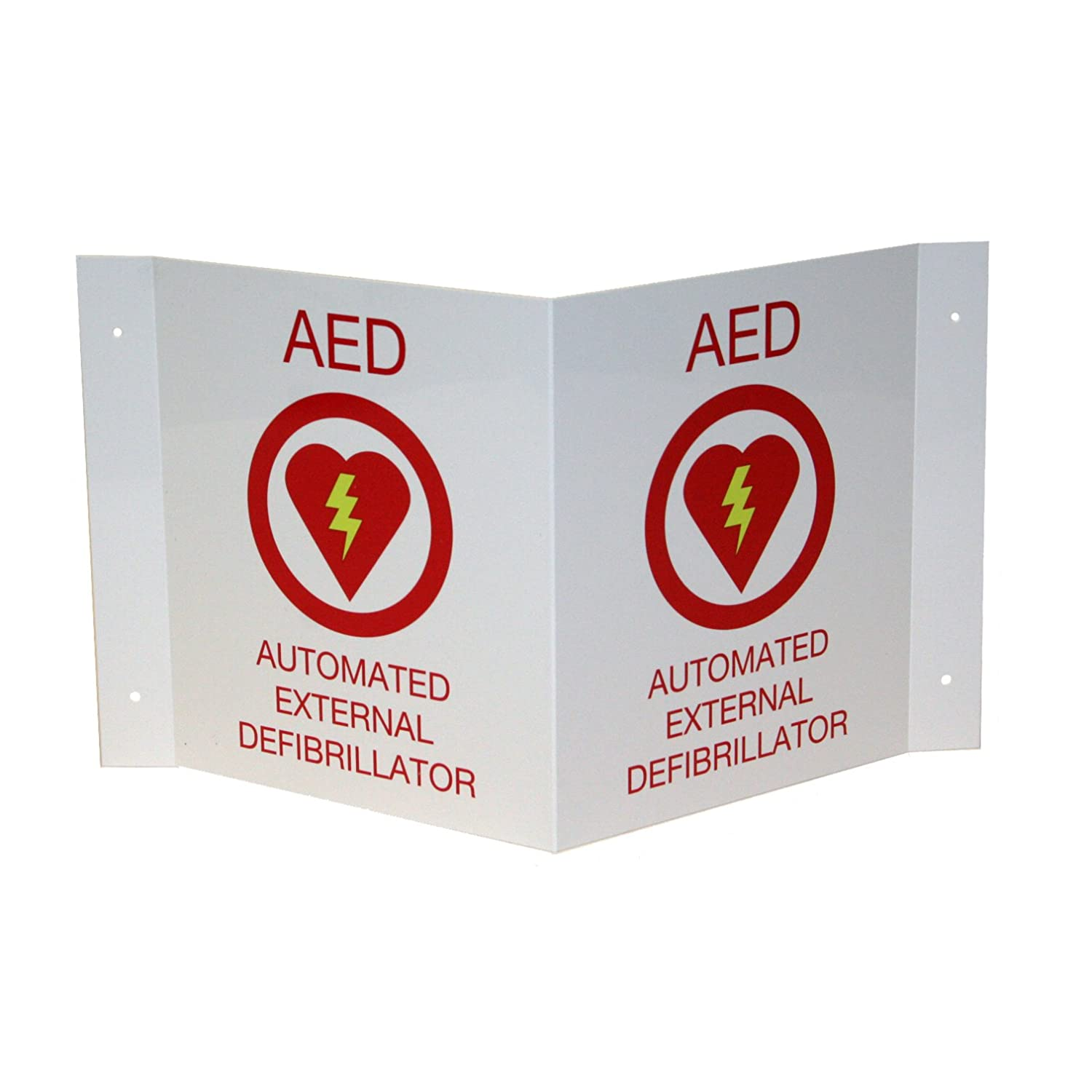 First Voice Free shipping on posting reviews TS-150P AED High material Wall Sign Shaped 3D V Plasti projecting