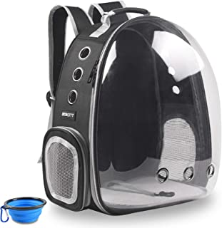 Aukor Cat Backpack Carriers Capsule Bubble Backpack Transparent Pet Cat Carrier Ventilated Airline Approved Travel Pet Bac...