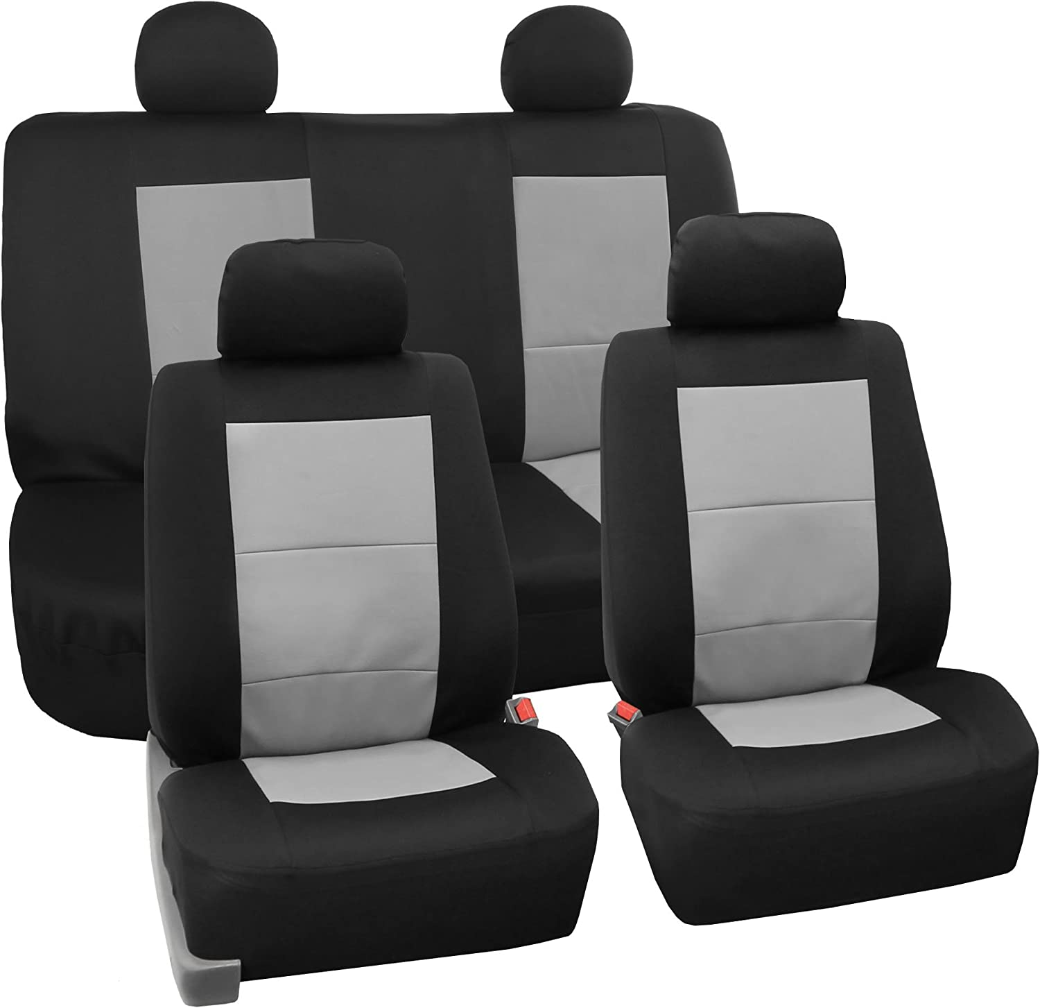 TLH Car Seat Covers Full Our shop OFFers the best service Set Waterproof Gray OFFicial mail order Eva Foam Color-Un