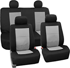 FH Group FB085GRAY114 Seat Cover Neoprene Blend Waterproof Seat covers Full Set with Bench Gray