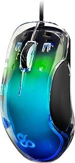 Newskill Lycan - Ratón Gaming Transparente con Retroiluminación RGB, 16000 dpi, 400 IPS y Aceleración Máxima de 50G