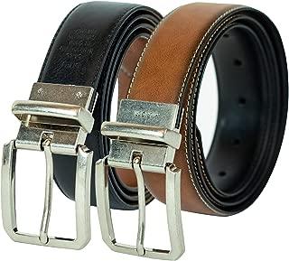 Tommy Hilfiger mens 11TL01X031 1.2 In. Wide Feather Edge Reverisble Belt Belt