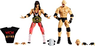 WWE Goldberg vs Bret Hit Man Hart Elite Collection 2-PackAction Figures Each with 2 Extra Sets of Swappable Hands and Superstar-Specific Accessories