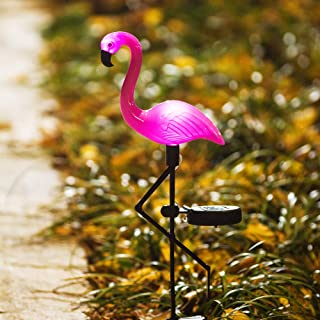 Obrecis Flamingo Ground Spike Lights Solar Powered Garden Light Waterproof Park Decorative Lawn Lamp Pathway Outdoor Yard Walkway (Solar Flamingo)