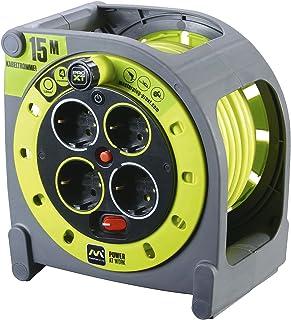 comprar comparacion Masterplug Pro-XT - Extensión eléctrica con carrete de cable y toma múltiple x4, 15m