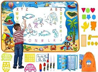 لوحة الرسم المائية السحرية ترقية كاملة مع مساحة رسم كبيرة جدًا وكتابة ألوان مائية وهدية لعيد الميلاد، ألعاب تعليمية هدايا ...