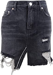 Women's Relaxed and Destroyed Skirt